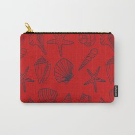 Red and blue seashells pattern Carry-All Pouch