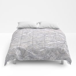 Through the Branches Grey Marble Comforters