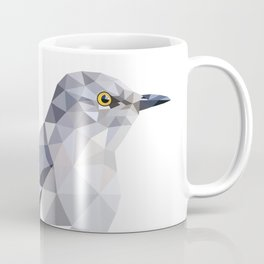 Gray Bird art Mocking Bird Geometric Coffee Mug