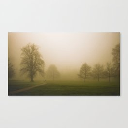 Couple in the fog Canvas Print