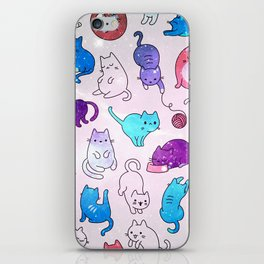 Space Cats Pattern iPhone Skin