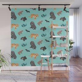Jungle animals wilderness pattern tropics tropical Wall Mural