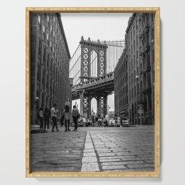 Manhattan Bridge Dumbo Brooklyn Serving Tray