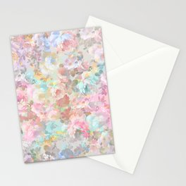 Shabby vintage pink baby blue watercolor floral Stationery Cards