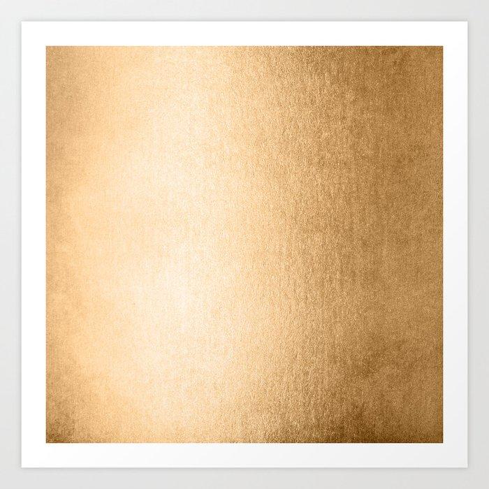 Simply Orange Sherbet Shimmer Art Print
