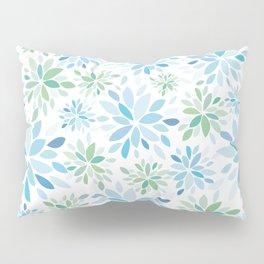 Nature's Healing Mandala Blue Pillow Sham
