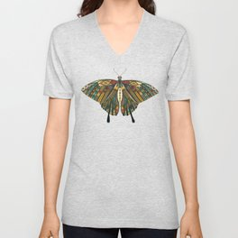 swallowtail butterfly copper Unisex V-Neck