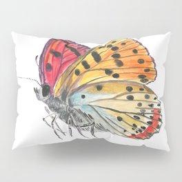 Butterfly Orange Red Purple Pillow Sham