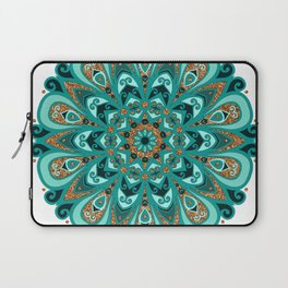 Copper and Teal Mandala Laptop Sleeve