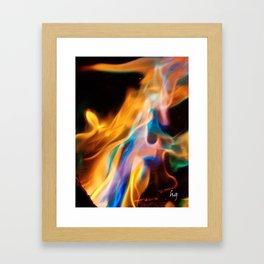 Rainbow Flame Framed Art Print