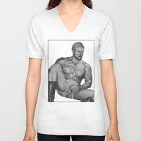 olaf V-neck T-shirts featuring Olaf by vooduude