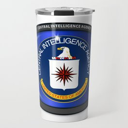 CIA Flag Oval Travel Mug