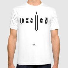 Design. Mens Fitted Tee MEDIUM White