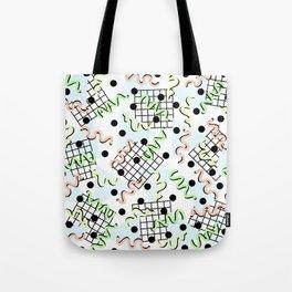 Retro Memphis 80's Disco Confetti Design Pattern Tote Bag