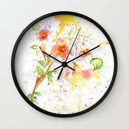 Little Garden Watercolor Wall Clock