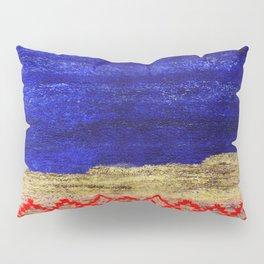 V24 New Blue Calm Traditional Moroccan Carpet Texture. Pillow Sham