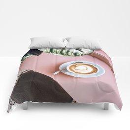 pink latte Comforters