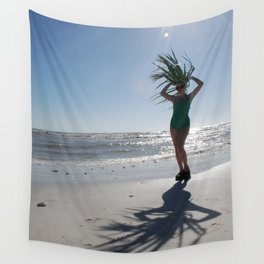 Palm frond Pinup Wall Tapestry