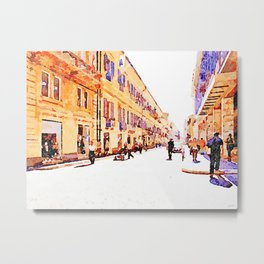 Teramo: people along the course Metal Print
