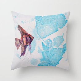 Little Angelfish Throw Pillow