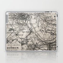 Vintage Paris old retro map Laptop & iPad Skin