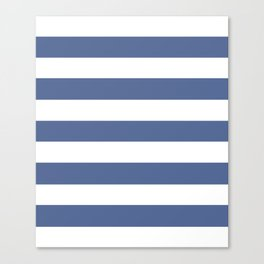 UCLA blue - solid color - white stripes pattern Canvas Print