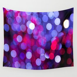 Pittsburgh Market Square Christmas Bokeh Wall Tapestry