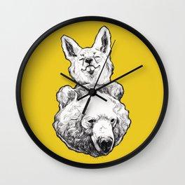 foxbear Wall Clock