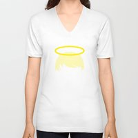 halo V-neck T-shirts featuring PAUSE – Halo by PAUSE
