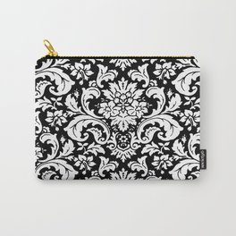 Damask Paisley Black and White Paisley Pattern Vintage Carry-All Pouch