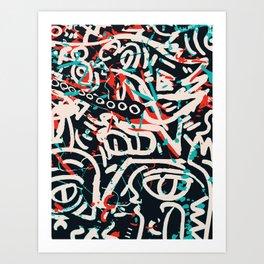 Street Art Pattern Graffiti Post Art Print