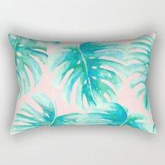 Paradise Palms Blush Rectangular Pillow