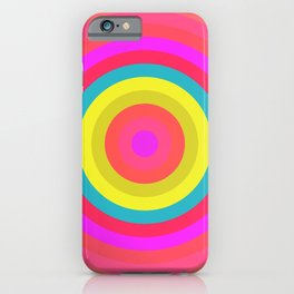 Pink Radial iPhone Case