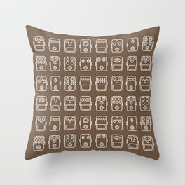Effects pedals 8x6 chocolate Throw Pillow