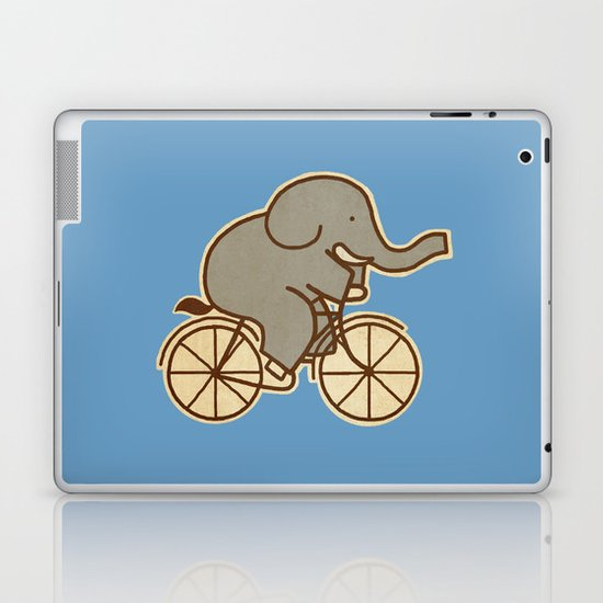 Elephant Cycle - colour option Laptop & iPad Skin