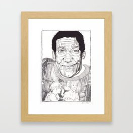 Bill Cosby in a Toulouse Lautrec Sweater by Aaron Bir Framed Art Print