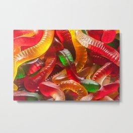 Gummy Worms Metal Print