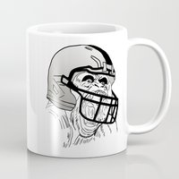 nfl Mugs featuring American Football Gorilla by raeuberstochter