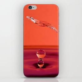 Water Drop Collision iPhone Skin