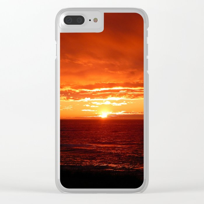 Sun Sets on the Mighty Saint-Lawrence Clear iPhone Case