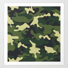 Army Green Camouflage Camo Pattern Art Print