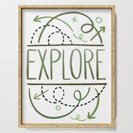 """Explore"" Original Hand Drawn Artwork by Amanda Leigh from StudioHenson Serving Tray"