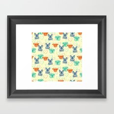 Dog loves doggy Framed Art Print