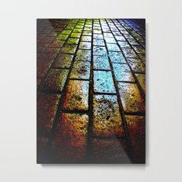 The Road. Urban Landscape. © J&S Montague. Metal Print