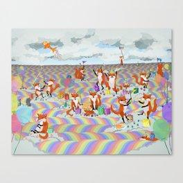 donna's birthday fox party Canvas Print