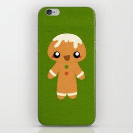 Christmas Card - Gingerbread Kid iPhone Skin