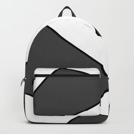 Geometric abstract - gray, black and white. Backpack