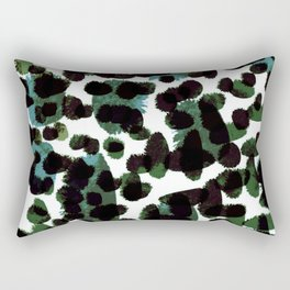Abstract Green & Blue Rectangular Pillow