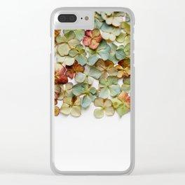 Hydrangea Petals no. 2 Clear iPhone Case