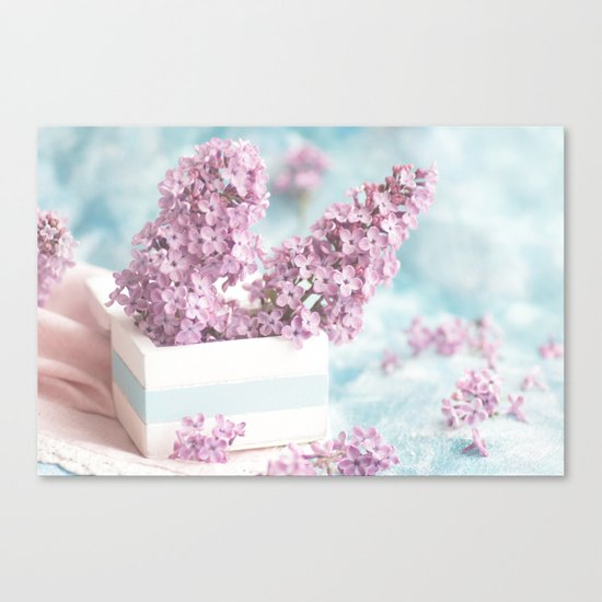 Lilac power in pastel Canvas Print